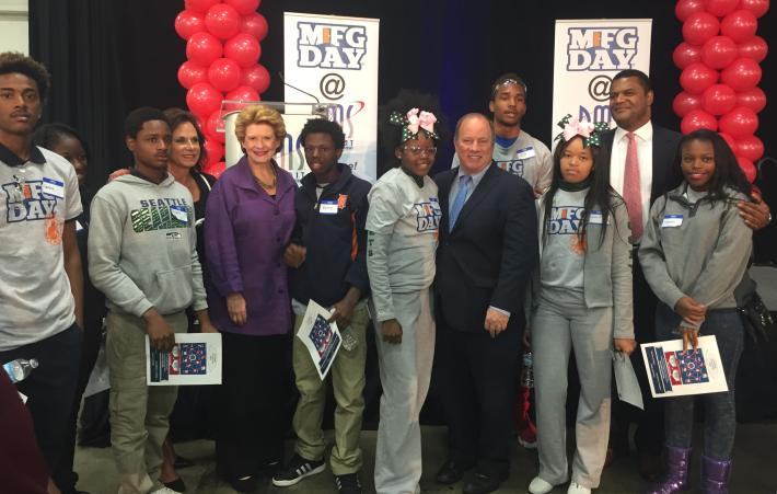 Senator Stabenow Celebrates Manufacturing Day with Local Students at Detroit Manufacturing Systems