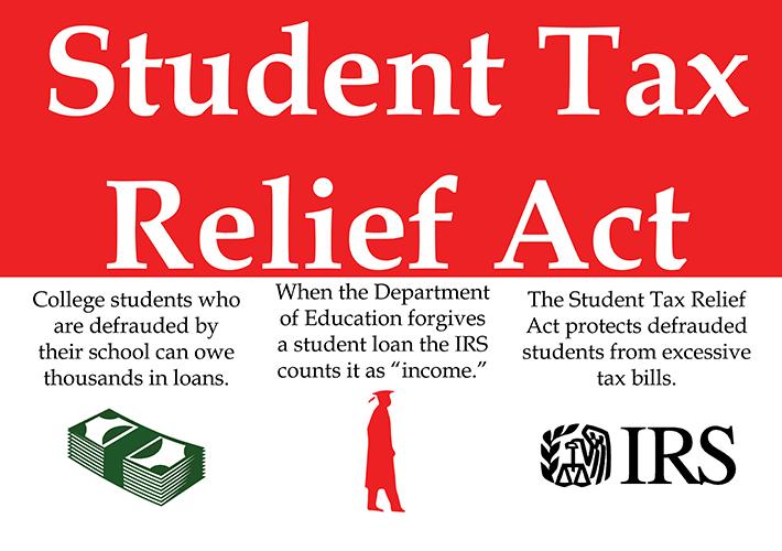 Senators Introduce Student Tax Relief Act