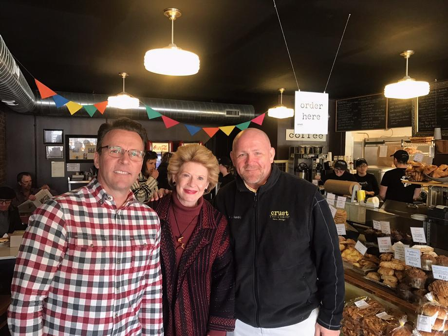 """It was great to see Senator Stabenow here with her constituents to listen to what small business owners are struggling with and to offer her support to the business community,"" said Mike Green, Co-Owner of CRUST."