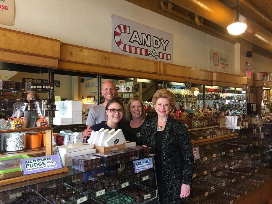Senator Stabenow visits Donckers in Marquette.