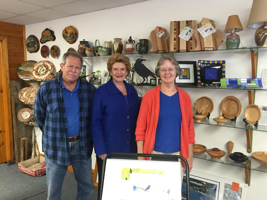 """I am glad to welcome Senator Stabenow to the Voyageur Trading Post; we value her support of small businesses,"" said Alan Turf, owner and operator of the Voyageur Trading Post."