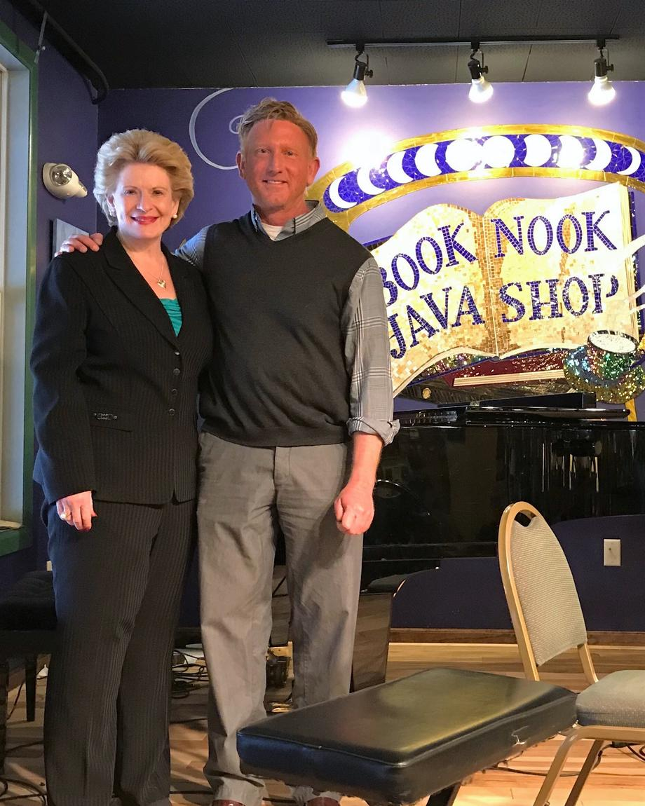 Senator Stabenow visits the Book Nook & Java Shop in Montague