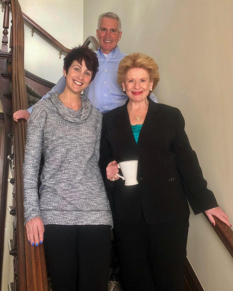 Senator Stabenow visits the Lewis House Bed and Breakfast in Whitehall