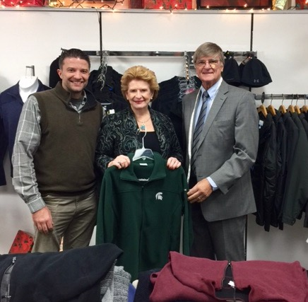 """It is very nice to have someone like Senator Stabenow who is local and appreciates small business owners,"" said Brad Rehmann, Partner at Rehmann's Clothing. ""We are happy to see her taking a stance that helps grow our flourishing downtown."""