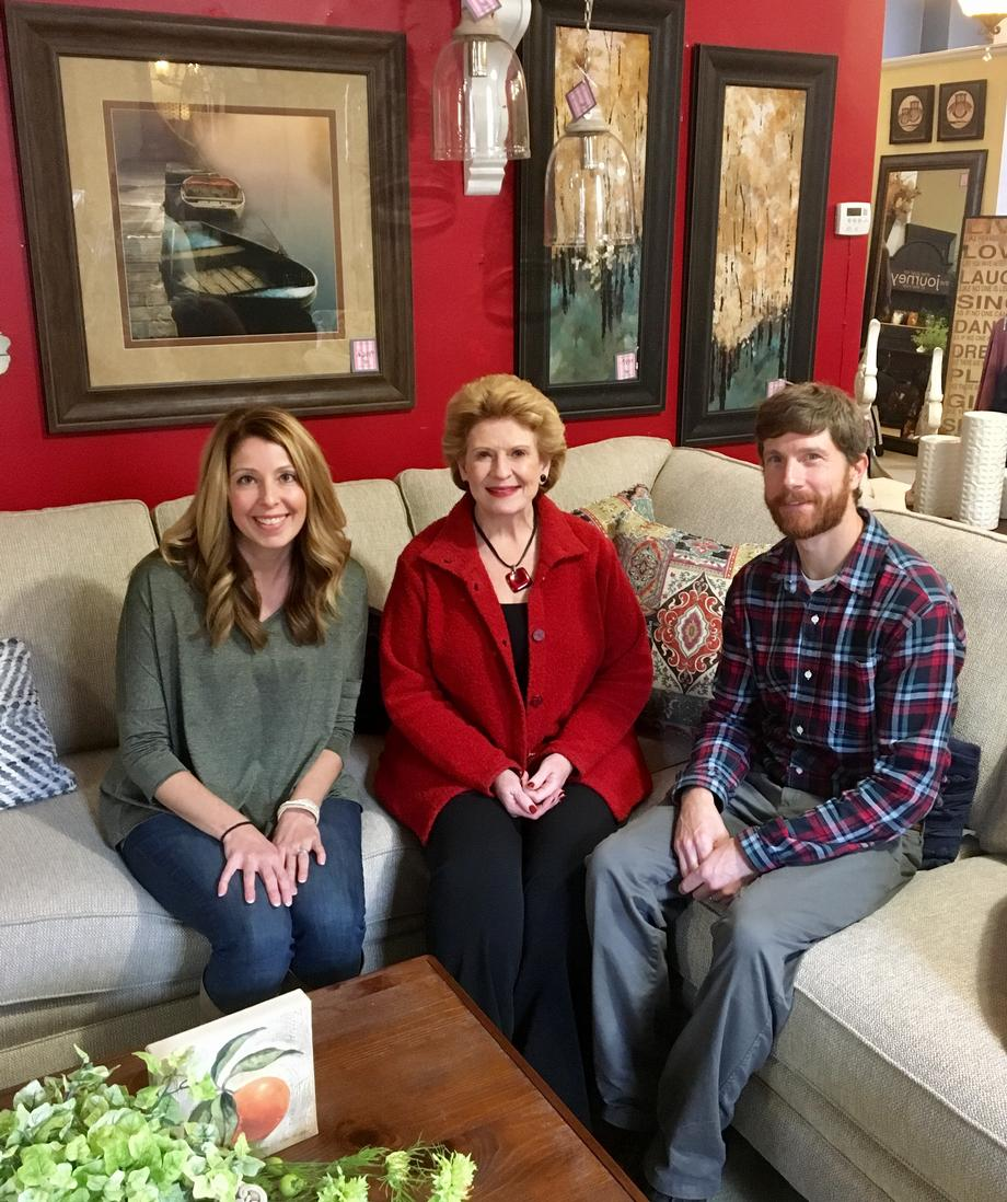 """It was wonderful to have Senator Debbie Stabenow choose Gray's Furniture and Accessories as one of her stops for the small business tour in Downtown Mt. Pleasant,"" said Amy Fox, Owner of Gray's Furniture and Accessories. ""We enjoyed showing her around all four floors of our family owned and operated business.  Senator Stabenow was a delight to meet and we love the fact she is listening to business owners and promoting small businesses."""