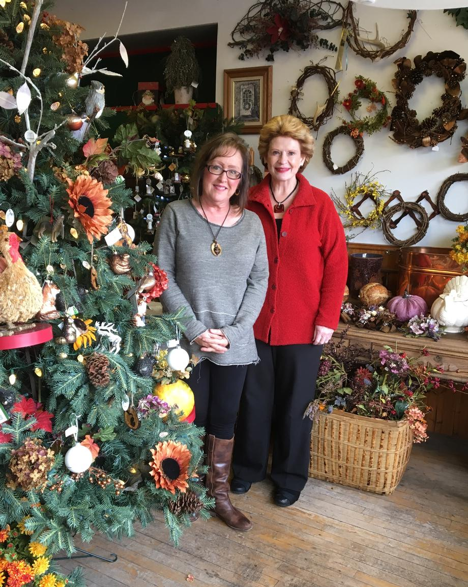 """It comes as no surprise to my community that The Band of Locals are champions for our local small business and we appreciate Senator Stabenow visiting our community,"" said Carlleen Rose, Owner of Old Pioneer Store & Emporium."