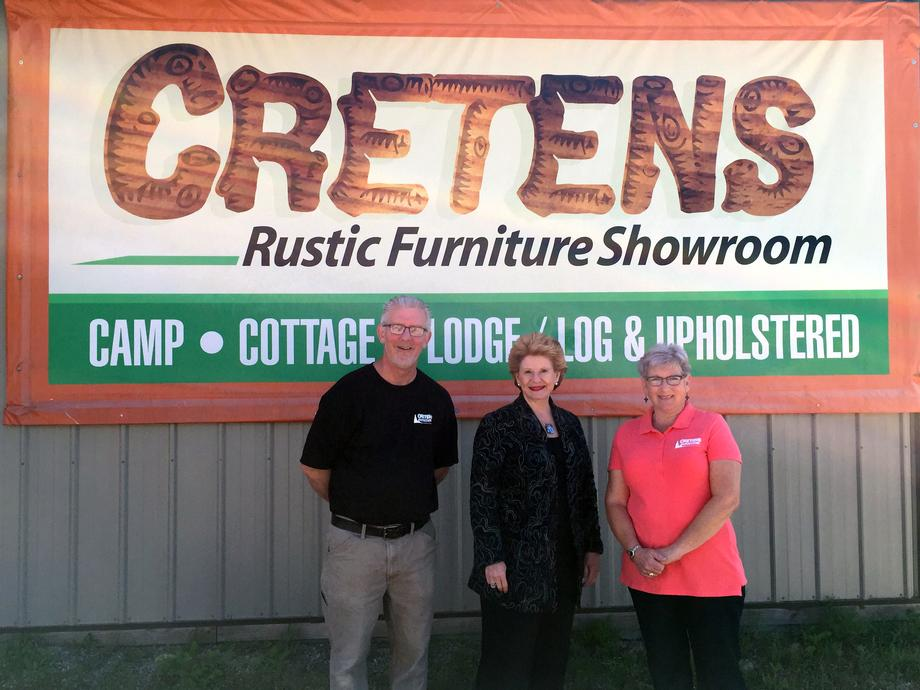 """It was great to speak with Senator Stabenow as she discussed work she is doing to keep the forestry industry and the Upper Peninsula economy thriving,"" said Jennifer Cretens, owner of Cretens Furniture."