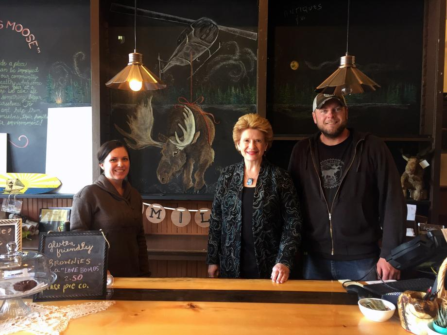 """We care so deeply about our customers,"" said Jeremy Poch, owner of The Flying Moose. It was so exciting to have the Senator come our store and speak with some of our wonderful patrons."""
