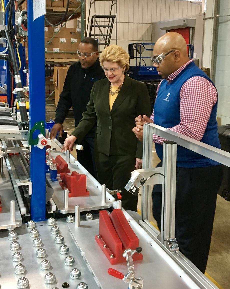 """Our team at STEWART Industries is always grateful when our lawmakers visit our facility,"" said Erick Stewart, President of STEWART Industries. ""The Senator's visit today was extra special based on her support of small business here in Michigan."