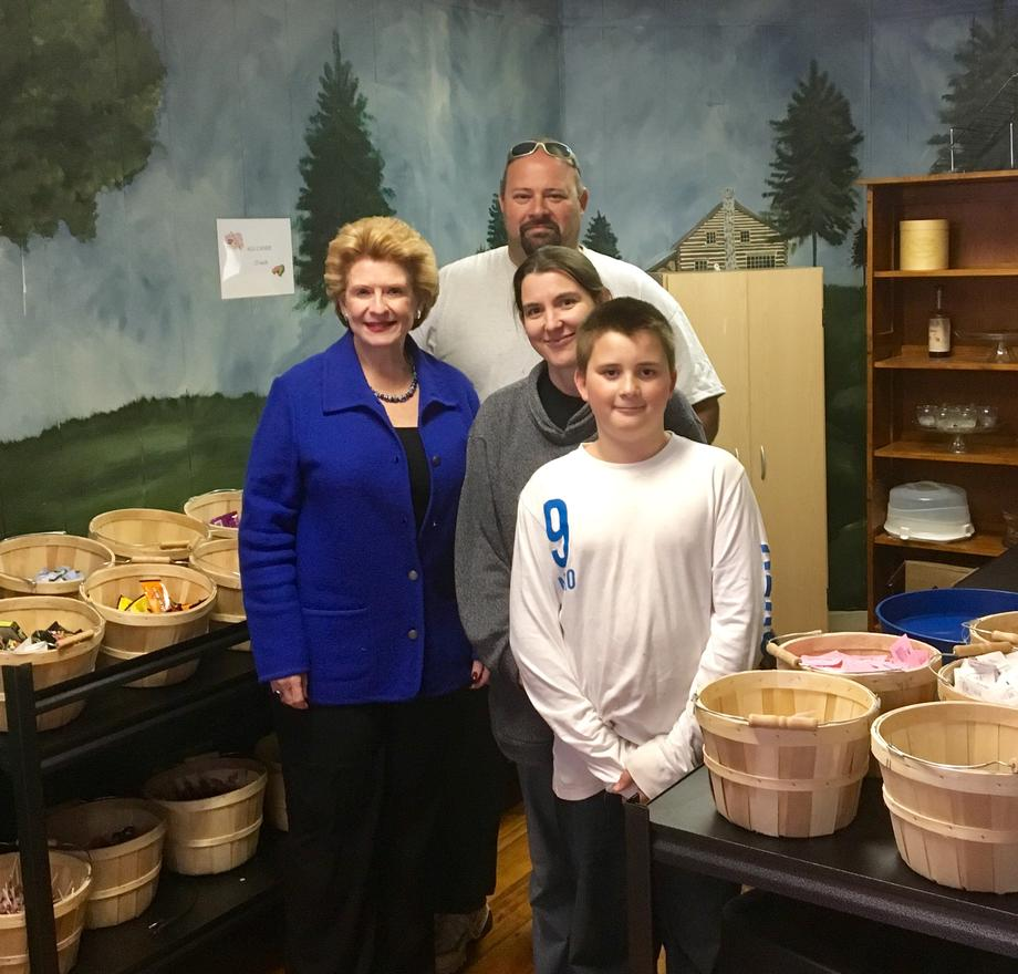 """It was an exciting opportunity to show Senator Stabenow around our store and we appreciate that she went out of her way to greet our customers,"" said Tom and Jamie Saintamour, Owners of the Chocolate Moose."