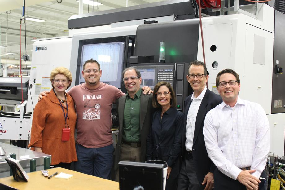 """""""We appreciate Senator Stabenow taking the time to visit RAMI during her business tour,"""" said Michael Voevodsky, CEO of RAMI Group."""