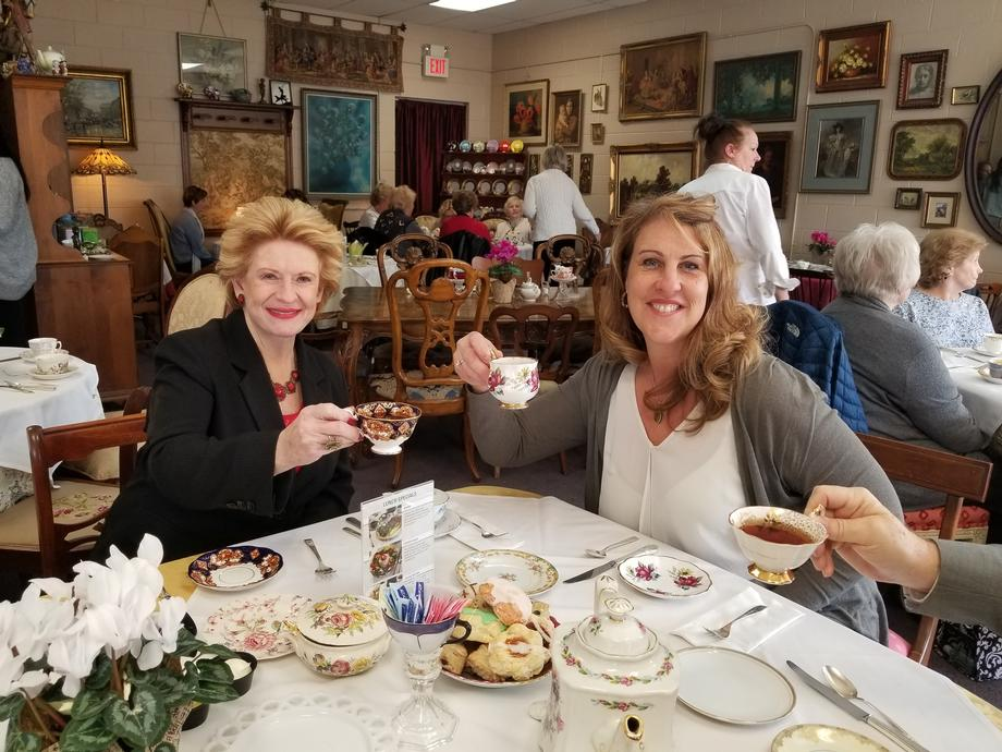 Senator Stabenow visits Just Delicious Scones and Tea Room in Roseville