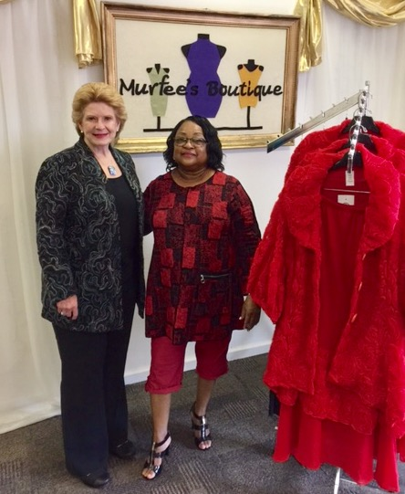 """I was honored to have Senator Stabenow visit our store and speak with her about our exciting plans to grow our business,"" said Ethel Golliday, owner of Murfee's Boutique."