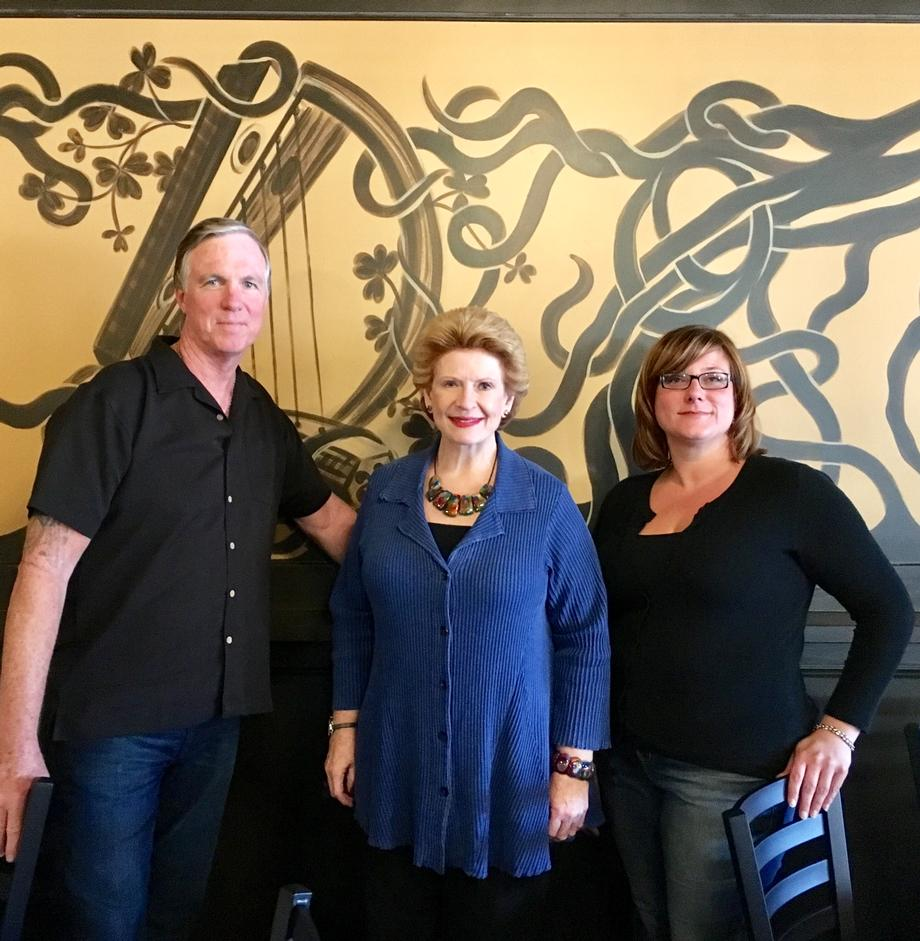 Senator Stabenow met with the owners of O'Halloran's Public House