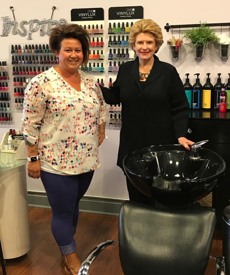 """It's so great that Senator Stabenow is taking an interest in small businesses like mine,"" said Danielle Hinman, Owner of PinUp Salon. ""It was a pleasure having her at PinUp!'"""