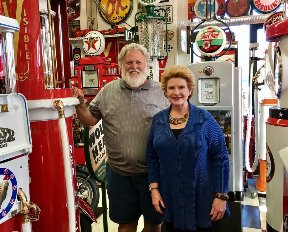 """""""I really appreciate Senator Stabenow coming by to visit and talking with me about the automobile business and our priorities,"""" said Rick Michelon, Owner of U.S.A. Tire. """"We feel so secure with the senator and Michigan could not do any better than her."""""""